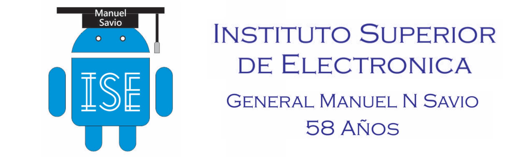 Logo Instituto Superior de Electronica ISE Manuel Savio Arduino